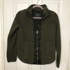 Abercrombie & Fitch Green Sherpa Shacket XS